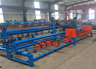 Two Wires Auto Diamond Chain Link Fence Machine For Highway Protection Fence